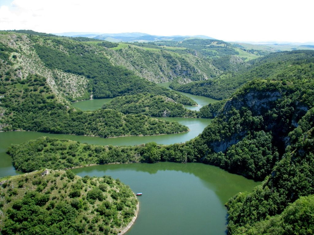 THE FAMOUS UVAC CANYON IN SERBIA